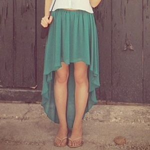 Lush high low skirt